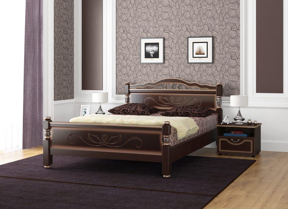 """Кровать """"114-5 B"""" Тёмный орех"""