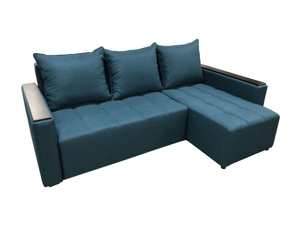 Угловой диван № 355 с накладками