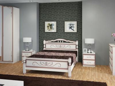 """Кровать """"114-5 B"""" Дуб молочный"""