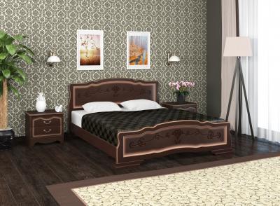 """Кровать """"114-6 B"""" Тёмный орех"""