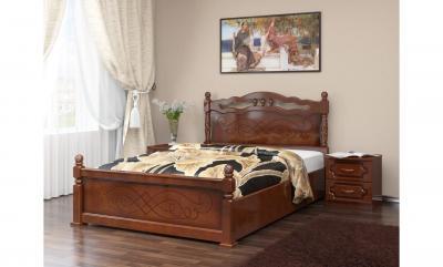 """Кровать """"Карина-14"""" Орех, с подъемным механизмом"""
